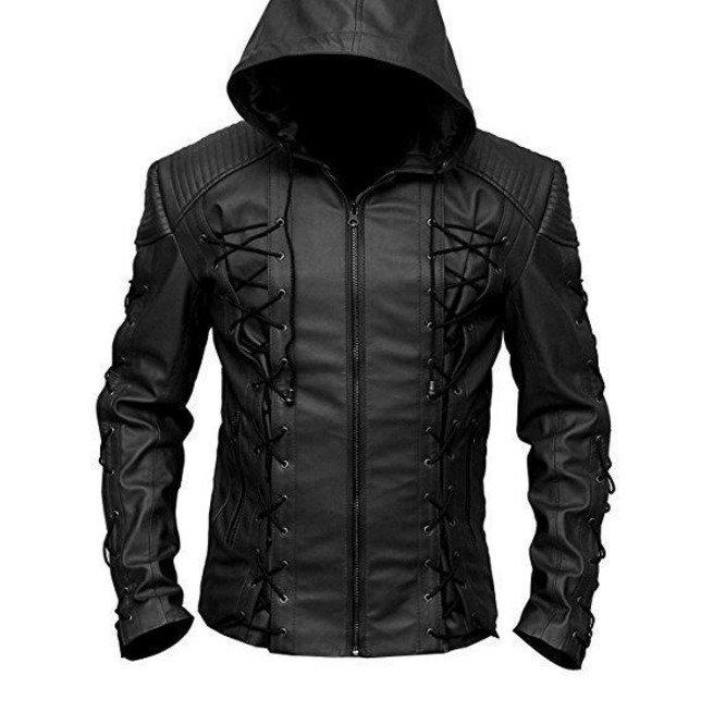 New Men's Coat Gothic Style Fashion Black Leather Jacket Size 3XL