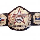 SOUTHWEST WRESTLING CHAMPIONSHIP LEATHER STRAP BELT ADULT SIZE