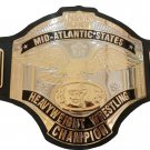 NWA MID ATLANTIC STATES HEAVYWEIGHT WRESTLING CHAMPIONSHIP BELT LEATHER STRAP ADULT SIZE