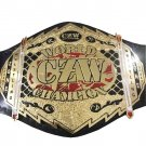 CZW WORLD WRESTLING CHAMPIONSHIP BELT LEATHER STRAP ADULT SIZE
