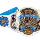 NATIONAL WRESTLING CHAMPIONSHIP BELT WHITE LEATHER STRAP ADULT SIZE