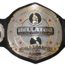 BELLATOR FIGHTING WORLD CHAMPIONSHIP WRESTLING BELT BLACK LEATHER STRAP ADULT SIZE