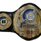 BELLATOR KICK BOXING WORLD CHAMPIONSHIP WRESTLING BELT BLACK LEATHER STRAP ADULT SIZE