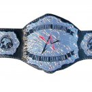PROFESSIONAL WRESTLING TAG TEAM CHAMPIONSHIP BELT BLACK DUAL PLATED LEATHER STRAP ADULT SIZE