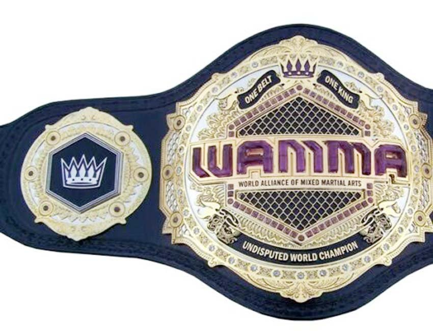 WAMMA WORLD ALLIANCE OF MIXED MARTIAL ARTS UNDISPUTED ONE BELT ONE KING WRESTLING CHAMPIONSHIP BELT