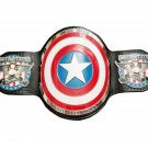 USA UNITED STATES HEAVYWEIGHT STAR LOGO CHAMPIONSHIP BELT BLACK LEATHER STRAP ADULT SIZE