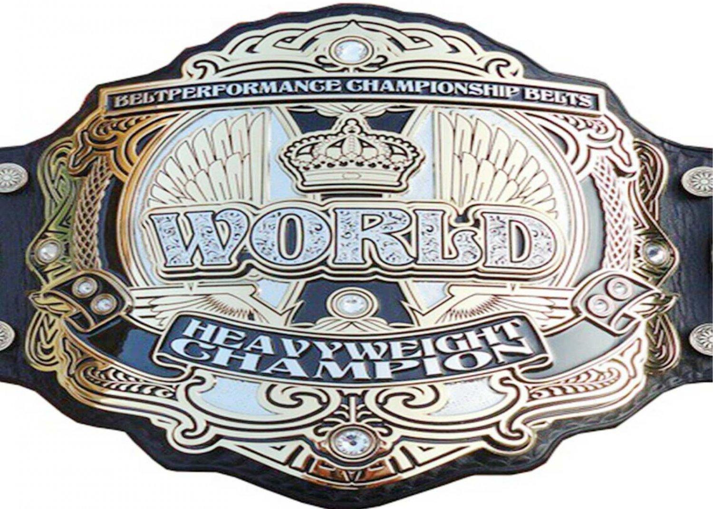 BELT PERFORMANCE WORLD HEAVYWEIGHT WRESTLING CHAMPIONSHIP LEATHER STRAP BELT ADULT SIZE