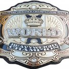 BELT PERFORMANCE WORLD HEAVYWEIGHT WRESTLING CHAMPIONSHIP LEATHER STRAP BELT ADULT SIZE