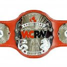 WCPW WRESTLING WOMENS CHAMPION BELT LEATHER STRAP ADULT SIZE