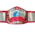 EUROPEAN WRESTLING CHAMPIONSHIP BELT RED LEATHER STRAP ADULT SIZE