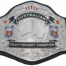 PWA AWA AAW AUSTRALIAN HEAVYWEIGHT WRESTLING CHAMPIONSHIP LEATHER STRAP BELT ADULT SIZE