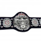 PACIFIC WORLD JUNIOR FEDERATION HEAVYWEIGHT WRESTLING CHAMPIONSHIP LEATHER STRAP BELT ADULT SIZE