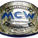 MCW PRO WRESTLING HEAVYWEIGHT CHAMPIONSHIP BELT BLACK LEATHER STRAP ADULT SIZE