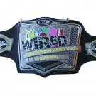 CZW WIRED TELEVISION WRESTLING CHAMPIONSHIP BELT BLACK LEATHER STRAP ADULT SIZE