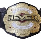 NEVER OPENWEIGHT WORLD WRESTLING CHAMPIONSHIP LEATHER STRAP BELT ADULT SIZE