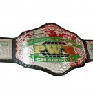 PWX HEAVYWEIGHT CHAMPION WRESTLING BELT BLACK LEATHER STRAP ADULT SIZE