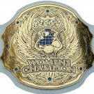 NCW WOMENS WRESTLING CHAMPION WHITE LEATHER STRAP BELT ADULT SIZE