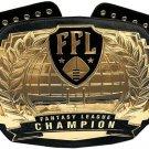 FFL FANTASY LEAGUE CHAMPION BELT BLACK LEATHER STRAP