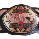 NXT WOMENS WRESTLING CHAMPION BELT ADULT SIZE BLACK LEATHER STRAP
