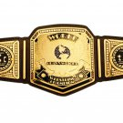 TSC WORLD HEAVYWEIGHT WRESTLING CHAMPIONSHIP CUSTOMIZE BELT ADULT SIZE BLACK LEATHER STRAP