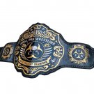 VIRAL PRO WRESTLING CHAMPIONSHIP BELT ADULT SIZE BLACK LEATHER STRAP