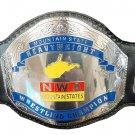 NWA MOUNTAIN STATES HEAVYWEIGHT WRESTLING CHAMPIONSHIP BELT ADULT SIZE BLACK LEATHER STRAP