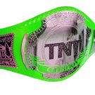 AEW TNT WRESTLING CHAMPIONSHIP BELT RE LEATHER CUSTOMISE ADULT SIZE GREEN LEATHER STRAP