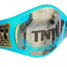AEW TNT WRESTLING CHAMPIONSHIP BELT RE LEATHER CUSTOMISE ADULT SIZE LIME BLUE LEATHER STRAP