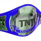 AEW TNT WRESTLING CHAMPIONSHIP BELT RE LEATHER CUSTOMISE ADULT SIZE BLUE LEATHER STRAP