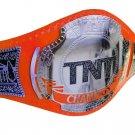 AEW TNT WRESTLING CHAMPIONSHIP BELT RE LEATHER CUSTOMISE ADULT SIZE ORANGE LEATHER STRAP