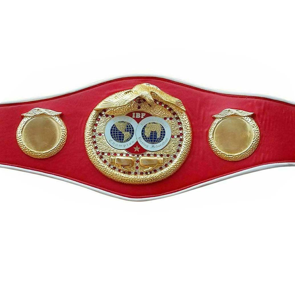 MMA BOXING CHAMPIONSHIP RED SYNTHETIC LEATHER STRAP BELT ADULT SIZE