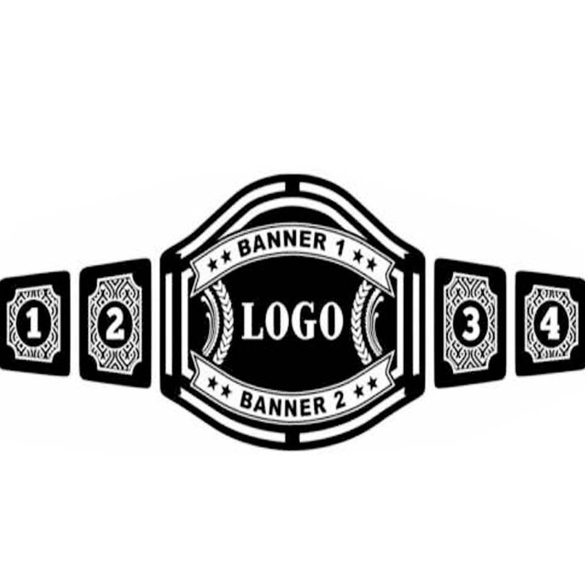 YOUR OWN DESIGN OR LOGOS CUSTOM MADE  WRESTLING CHAMPIONSHIP BELT BLACK LEATHER STRAP ADULT SIZE