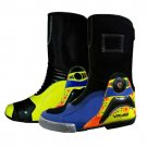 MOTORBIKE MOTORCYCLE RACING LEATHER SHOES GREEN MULTY COLOURE SIZE USA 4