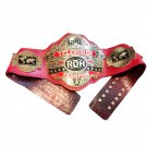 ROH RING OF HONOR WORLD TELEVISION WRESTLING CHAMPIONSHIP BELT RED CROCODILE SKIN LEATHER STRAP