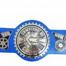 CAMPIONE DI COPPIA TAG TEAM WRESTLING CHAMPIONSHIP BELT BLUE LEATHER STRAP ADULT SIZE