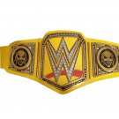 UNIVERSAL THE FIEND WRESTLING CHAMPIONSHIP BELT YELLOW LEATHER STRAP