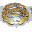 IWGP INTERCONTINENTAL WRESTLING CHAMPIONSHIP BELT WHITE LEATHER STRAP ADULT SIZE