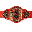 TNA KNOCKOUTS TAG TEAM WRESTLING CHAMPIONSHIP BELT RED LEATHER STRAP
