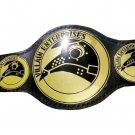 ROH Villain Enterprises Tag Team Wrestling Championship Belt Black Leather Strap Adult Size