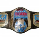 ROH RING OF HONOR WORLD TELEVISION WRESTLING CHAMPIONSHIP BELT BLACK LEATHER STRAP ADULT SIZE