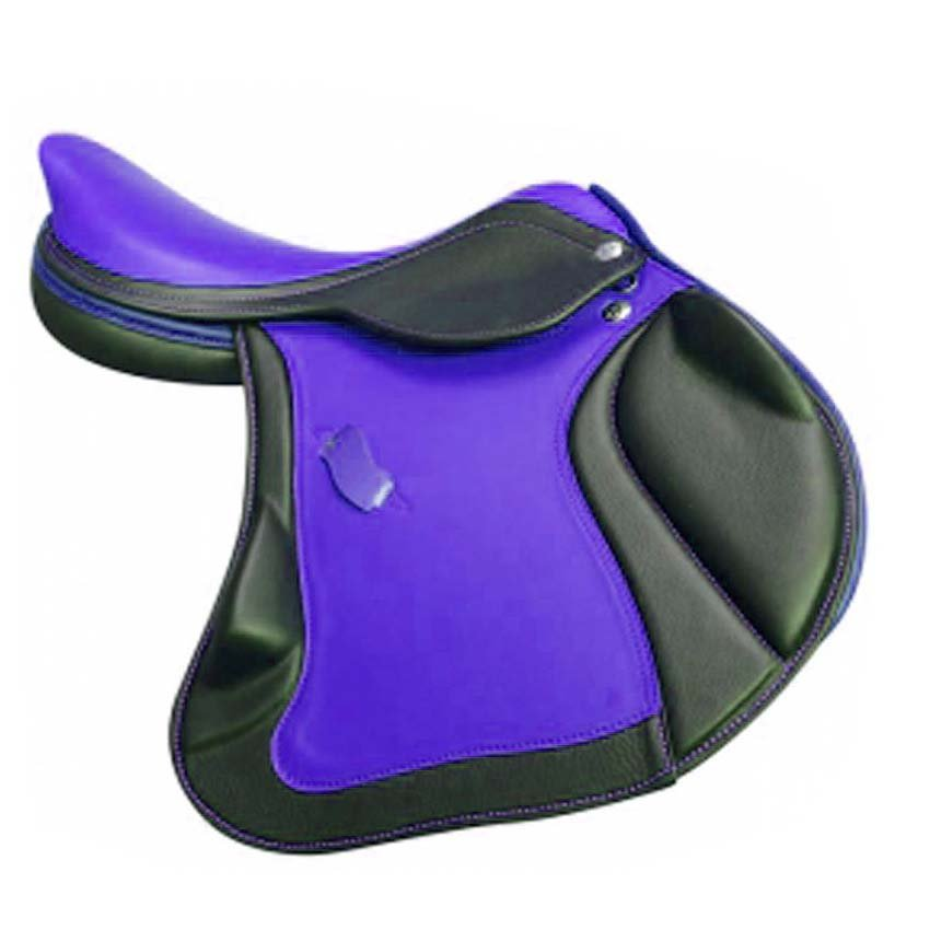 HORSE RIDDING SADDLE PREMIUM QUALITY BLACK AND BLUE COLOR SIZE 14