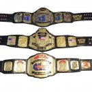 WCW WORLD HEAVYWEIGHT UNITED STATES TELEVISION WRESTLING CHAMPIONSHIP 3 BELT DEAL ADULT SIZE