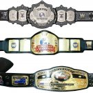 UNDERTAKER SIGNATURE SERIES AND NWA DOMED GLOBE AND EUROPEAN WRESTLING CHAMPIONSHIP 3 BELTS