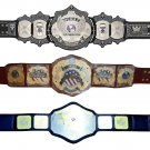 UNDERTAKER SIGNATURE SERIES AND IWGP USA AND NWA NATIONAL WRESTLING CHAMPIONSHIP BELTS