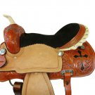 WESTERN HORSE SADDLE RIDDING LOVERS LEATHER TRAIL PLEASURE PREMIUM QUALITY BROWN COLOR SIZE 17