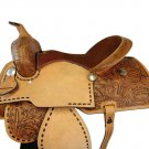 WESTERN HORSE SADDLE RIDDING LOVERS LEATHER TRAIL PLEASURE PREMIUM QUALITY BROWN COLOR SIZE 24