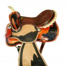 WESTERN HORSE SADDLE RIDDING LEATHER COMFY TRAIL PLEASURE PREMIUM QUALITY BROWN COLOR SIZE 19