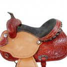 WESTERN HORSE SADDLE RIDDING LOVERS LEATHER TRAIL PLEASURE PREMIUM QUALITY BROWN COLOR SIZE 14