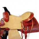 WESTERN HORSE SADDLE ARABIAN TOOLED LEATHER TRAIL PLEASURE PREMIUM QUALITY BROWN COLOR SIZE 16