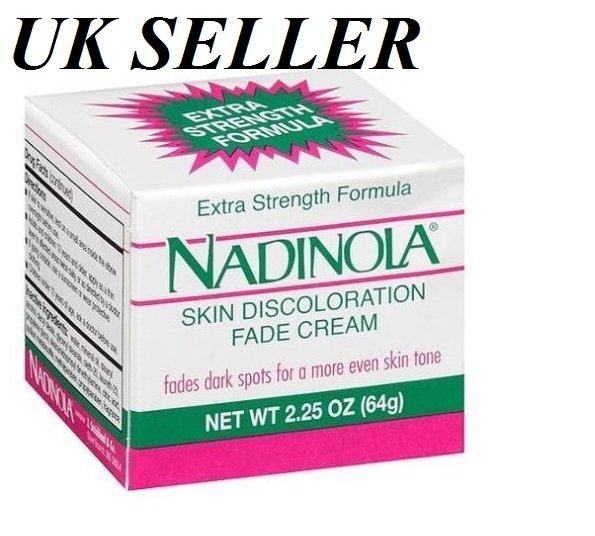 Nadinola Extra Strength Formula Skin Discoloration Fade Cream Dark Spots 2.25oz |*UK SELLER*